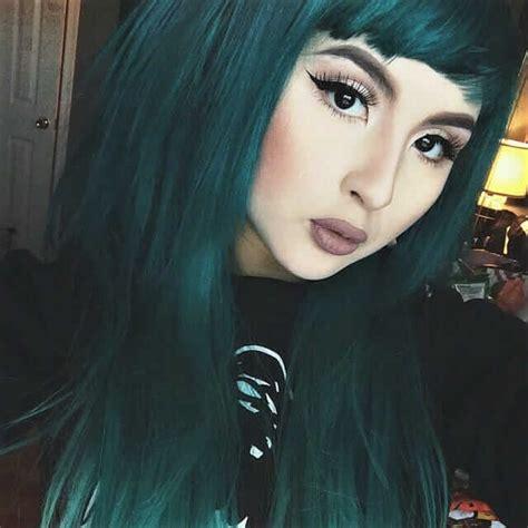 green hair color ideas     ninja cosmico