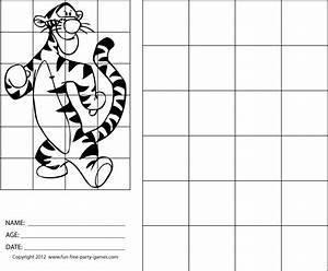 tigger grid drawing drawing with grids winnie the pooh With grid drawings templates