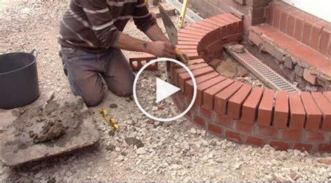 build  curved brick step