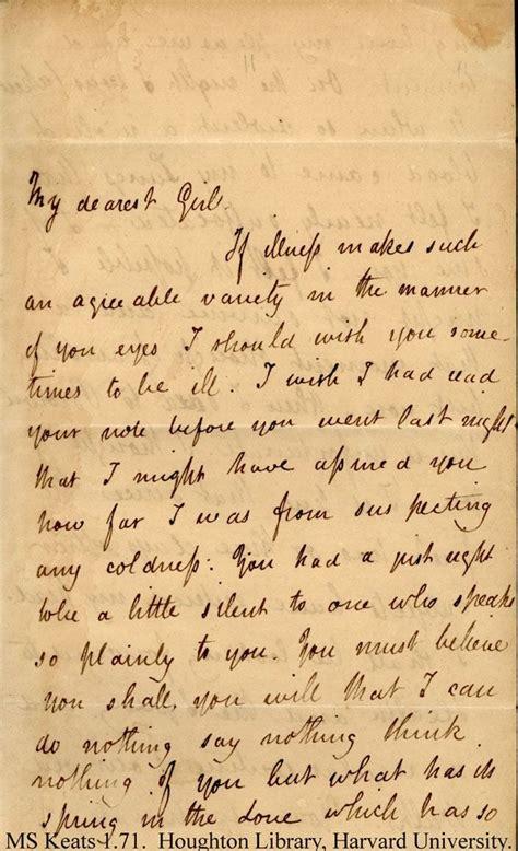 letter  john keats   love fanny ms keats
