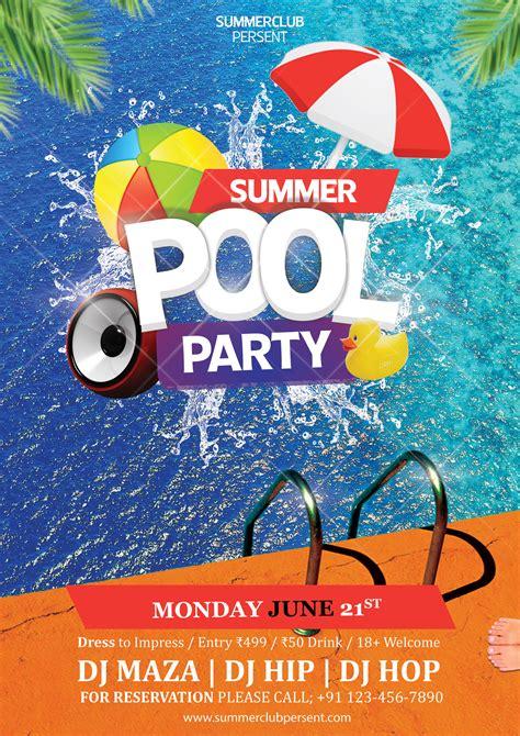 pool party psd flyer freedownloadpsdcom