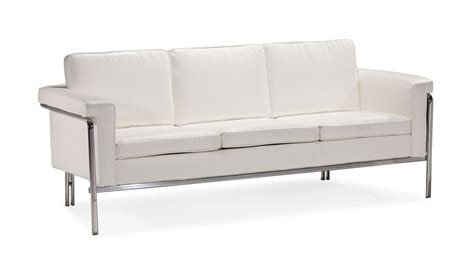 metal frame sectional sofa white or black leather contemporary sofa with chrome legs