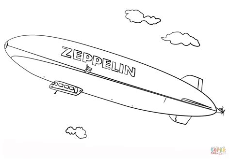 Kleurplaat Zeppelin zeppelin coloring page free printable coloring pages