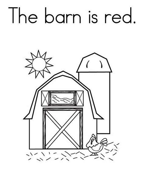 barn coloring pages bestofcoloringcom