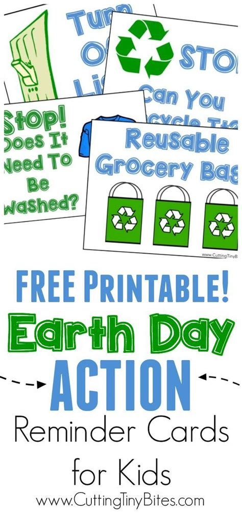 earth day action reminder cards earth day earth day