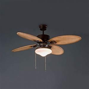 Ventilateur Plafond Bois : ventilateur lombok bois avec chainette 33019 faro ~ Premium-room.com Idées de Décoration