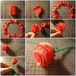 DIY Easy Crepe Paper Rose