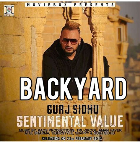 Backyard Mp3 by Backyard Gurj Sidhu Mp3 Song Mr Jatt
