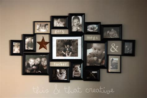 Bilderrahmen Collage Wand by This And That Creative Frame Collage