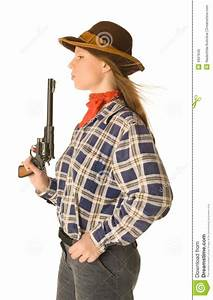 Cowgirl With A Gun 2 Royalty Free Stock Photo - Image: 4651645
