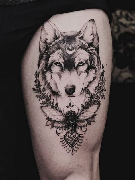 dotwork wolf tattoo wolves wolf tattoos  tattoos