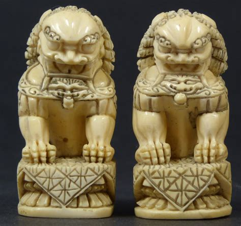 tips antique foo dogs statues   home