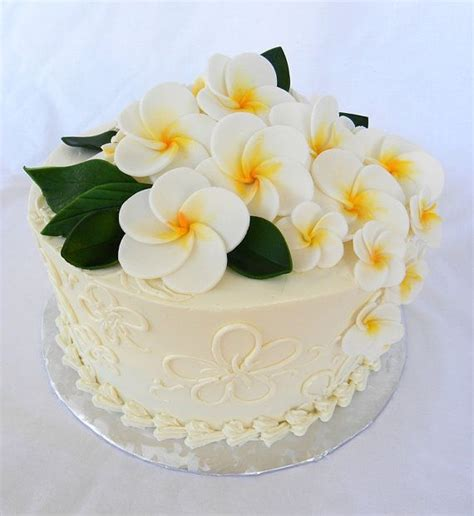 edible sugar flower cake topper plumeria  qty medium