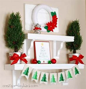 Silver, Green, And, Red, Christmas, Shelf, Decor