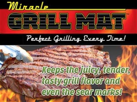 miracle grill mat miracle grill mat with 100 non stick surface as seen on tv