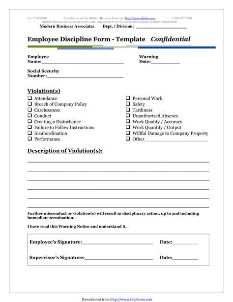 free 5 restaurant employee write up forms pdf
