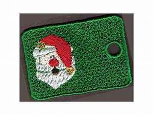 Embroidery Machine Designs Christmas Gift Tags Set
