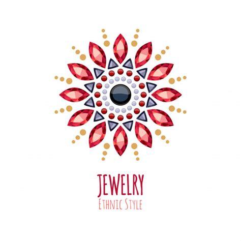 Premium Vector   Elegant gemstones jewelry decoration ...