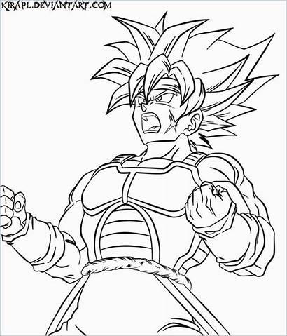 Dragon Ball Coloring Bardock Drawing Goku Desenhos