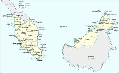 malaysia maps printable maps  malaysia