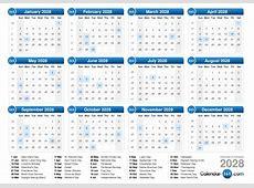 2028 Calendar