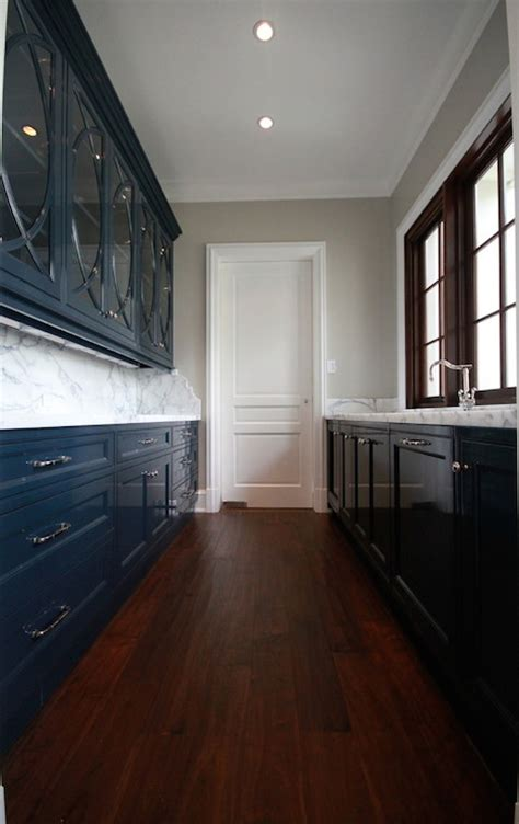 navy blue cabinets transitional kitchen planning