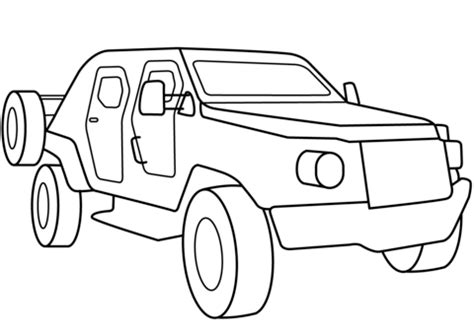 Military Armored Scout Car coloring page Free Printable