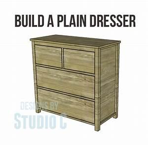 free DIY woodworking plans to build a plain dresser