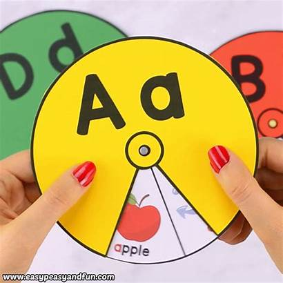 Alphabet Printable Spinners Easy Preschool Learning Fun