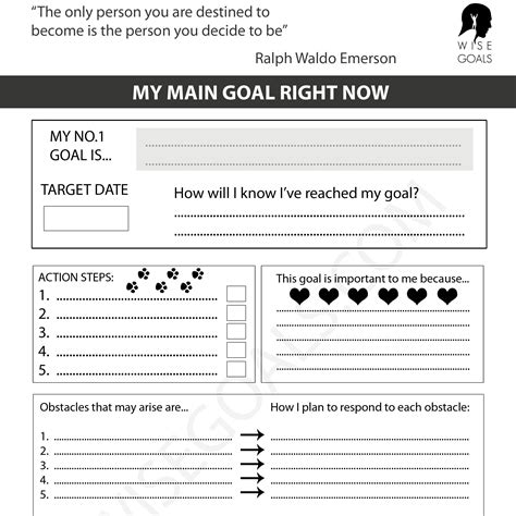 Goal Card Pdf 7 Goal Chart Templates Doc Pdf Excel
