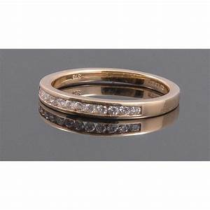 9ct yellow gold channel set wedding ring With 9ct gold wedding ring sets