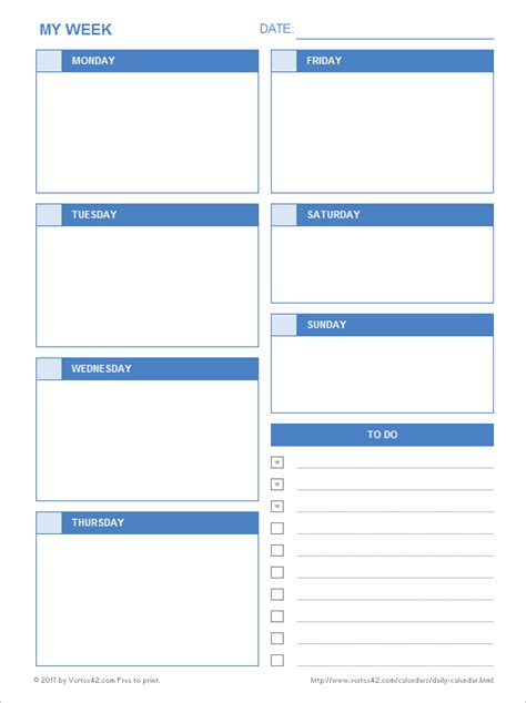 daily calendar  printable daily calendars  excel