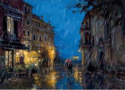 Rainy Night Days Street Rain Streets Walking