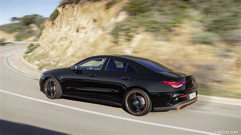 Rated 5 out of 5 stars. 2020 Mercedes-Benz CLA 250 Coupe Edition Orange Art AMG Line (Color: Cosmos Black) - Rear Three ...