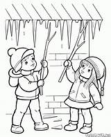 Coloring Seasons Frozen Ice sketch template