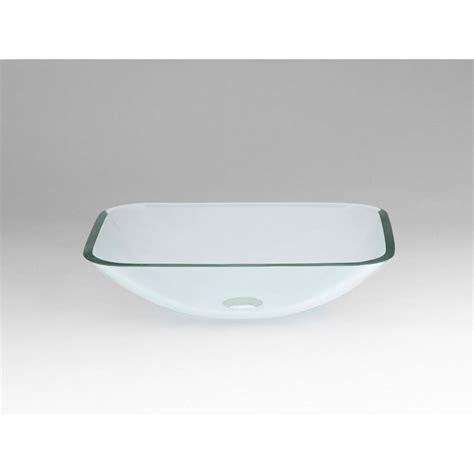 rectangular clear glass vessel sinks ronbow rectangle tempered glass vessel bathroom sink in