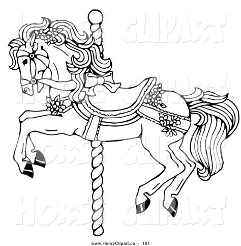 Carousel Book Template by Carousel Horse Clip Art Clip Art Of A Coloring Page Of A