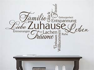 Entspannen Zu Hause : wandtattoo zuhause wortwolke familie gl ck ~ Buech-reservation.com Haus und Dekorationen