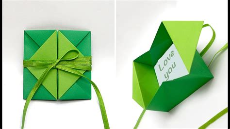 diy pop  diamond envelope diy valentine card origami