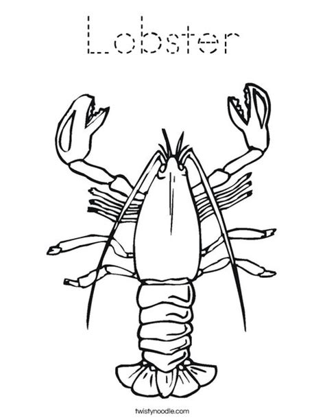 lobster coloring page tracing twisty noodle