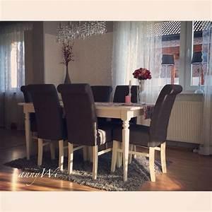 Deko Landhausstil Wohnzimmer : annywi deko wohnung ikea ingatorp esszimmer wohnzimmer landhausstil shabby vintage dining room ~ Sanjose-hotels-ca.com Haus und Dekorationen