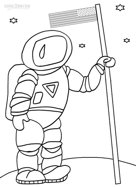 printable astronaut coloring pages  kids
