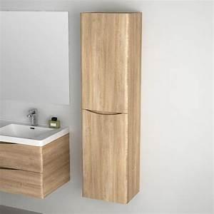 Armoire Rangement Salle De Bain : le meuble en bois colonne de rangements ~ Melissatoandfro.com Idées de Décoration