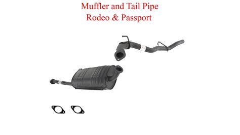 1996-1997 Isuzu Rodeo Honda Passport 3.2l Muffler Exhaust