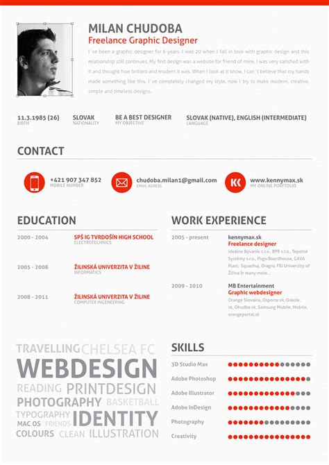 Skills For Cv by Graphic Design Resume Pdf Designer Free Template