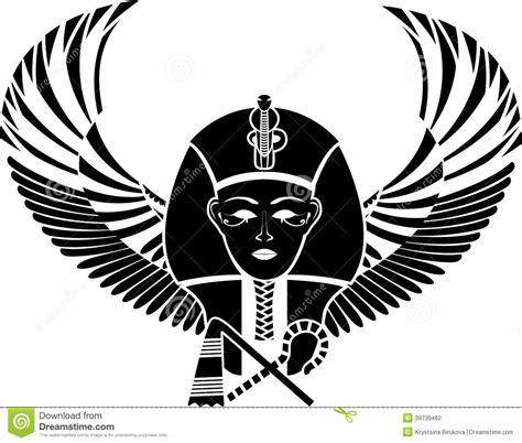 pharaon egipcio  asas ilustracao  vetor imagem
