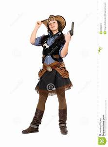 Young Cowgirl With A Gun Stock Images - Image: 23925014