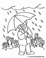 Rainy Coloring Pages Sports sketch template