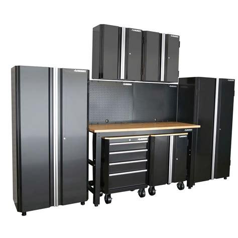 home depot husky cabinet husky 98 in h x 145 in w x 24 in d steel garage cabinet