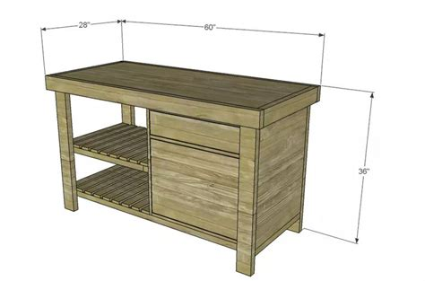 woodworking plans kitchen island 13 free kitchen island plans for you to diy 1654